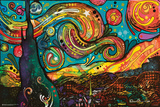 Starry Night By Dean Russo Plakater af Dean Russo