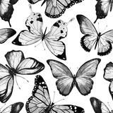 Watercolor Butterfly Pattern Metal Print by  Zenina