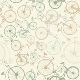 Seamless Pattern with Vintage Bicycles Print by Tatsiana Tsyhanova