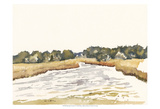 Minimalist Coastline II Prints by Dianne Miller