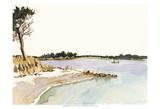 Minimalist Coastline I Art by Dianne Miller