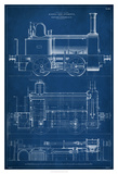 Locomotive Blueprint II Giclee Print by Vision Studio
