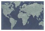 Linen Map II Posters by  Studio W