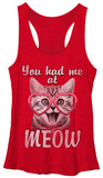 Juniors Tank Top: Valentines- Kitty Love Damestanktops