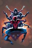 The Amazing Spider-Man No. 9 Cover, Featuring: Spider-Man, Spider Woman, Spider-Girl and More Julisteet tekijänä Olivier Coipel