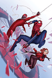Scarlet Spiders No. 1 Cover, Featuring: Scarlet Spider, Black Widow, Spider-Man Prints by David Nakayama