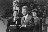 President Bill Clinton with Vp Albert Gore and Attorney General Janet Reno Photo