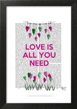 Love Is All You Need Illustration Poster by  Fab Funky