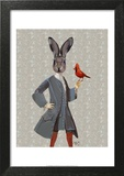 Rabbit And Bird Prints by  Fab Funky