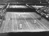 English Lawn Tennis Championship Play at Wimbledon, July 2, 1930 Photographie