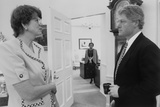 President Bill Clinton and Attorney General Janet Reno Photo