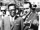 President Richard Nixon Welcomes Pres. Joseph Mobutu at the White House Photo