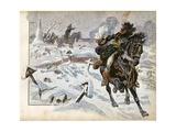 Battle of Eylau, Napoleon Orders Murat to Charge Russian Army Reproduction procédé giclée par Jacques de Breville