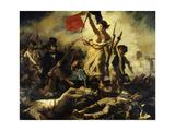 Liberty Leading the People, July 28, 1830 Reproduction procédé giclée par Eugene Delacroix