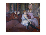 In the Salon at the Rue Des Moulins Lámina giclée por Henri de Toulouse-Lautrec