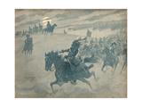 Allegory of Joachim Murat Riding with His Cavalry before Napoleon Reproduction procédé giclée par Jacques de Breville