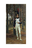 Foot Grenadier of the Imperial Guard Giclée-tryk af Edouard Detaille