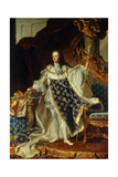 King Louis XV of France in Coronation Robe. 1730 Giclee Print by Hyacinthe Rigaud