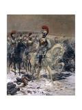 Before the Charge, October 18, 1812 Giclee-trykk av Edouard Detaille