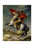Napoleon Bonaparte Crossing the Grand Saint-Bernard Pass, May 20,1800 Giclee Print by Jacques-Louis David