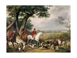 Hunting in Fontainebleau Forest Giclée-Druck von Antoine Charles Horace Vernet