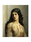 Jewish Woman from Tangiers. 1874. by Charles Landelle. Oil on Canvas, French Painting. Giclee Print by Charles Landelle