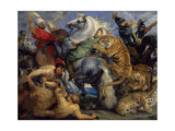 The Tiger Hunt, 1616 Giclee Print by Peter Paul Rubens