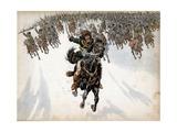 Murat at the Head of the Cavalry in Battle of Eylau Reproduction procédé giclée par Jacques de Breville