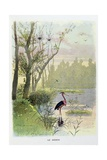 The Heron, La Fontaine's Fables Giclee Print by Firmin Bouisset