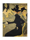Jane Avril, French Singer and Dancer. Lithography by Henry Toulouse-Lautrec, 1893. Lámina giclée por Henri Toulouse-Lautrec