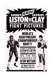 World Heavyweight Championship Bout: Charles 'Sonny' Liston Vs. Cassius Clay Reproduction procédé giclée