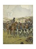 Napoleon I at the Battle of Lutzen, 1813 Reproduction procédé giclée par Jacques de Breville