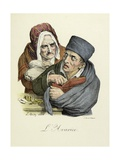 The Seven Deadly Sins: Greed, 1824 Giclee Print by Louis Leopold Boilly