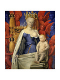 Agnes Sorel as Madonna with Child Posters by Jean Fouquet