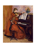 Young Girls at the Piano. Ca. 1889 Giclée-tryk af Pierre-Auguste Renoir