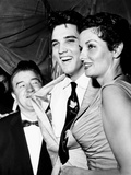 Lou Costello, Elvis Presley, Jane Russell, at a Benefit for St. Jude's Hospital, June 28, 1957 Foto