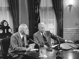 President Eisenhower Introduced Sec. of State John Foster Dulles, Who Discussed the Suez Crisis Foto