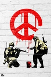Banksy- Peace Soldiers Posters by  Banksy