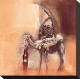 Saheli Reed Basket Merchant Stretched Canvas Print by Talantbek Chekirov