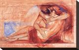 Shy Lucia Stretched Canvas Print by Talantbek Chekirov