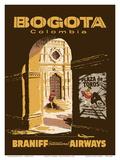 Bogota, Colombia - Bullfighting Bullring - Braniff International Airways Poster von  Pacifica Island Art