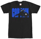 Captain America- Name Block T-shirt