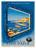 Côte d'Azur, France - The French Riviera - SNCF (French National Railway Company 高品質プリント : Roland Hugen