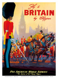 Fly To Britain By Clipper - Pan American World Airways (PAA) - British Royal Procession Poster von M. Von Arenburg