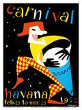 Carnival - Havana, Cuba - Feb. 23 to Mar. 23, 1952 Posters af  Villegas