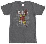 Iron Man- Distressed Stamp Shirt