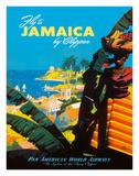 Fly to - Jamaica - by Clipper - Pan American World Airways Giclée-Druck von Mark Von Arenburg