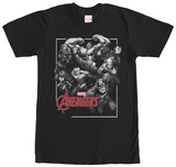 Avengers- Assembled Black & White T-Shirt