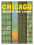 Chicago, USA - Lake Shore Drive - United Air Lines Planscher av Stan Galli