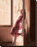 Wonderful View over Paris Stretched Canvas Print by Talantbek Chekirov